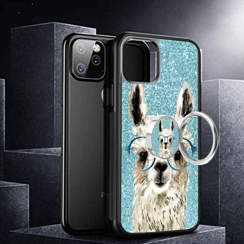 Hynina iPhone 11 Phone Case and Phone Ring Holder Ring Stand Compatible for iPhone 11 Alpaca