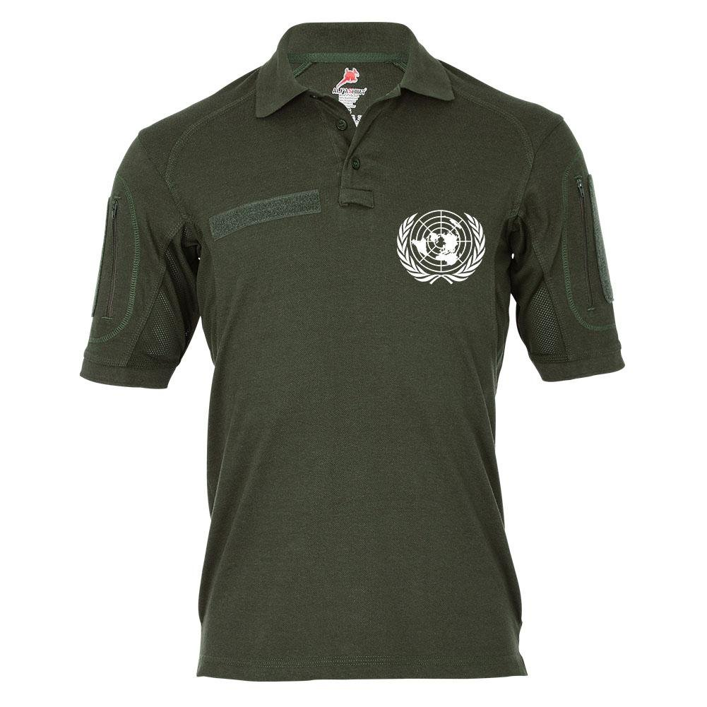Tactical Poloshirt Alfa - UN United Nations Vereinte Nationen Staaten Organisation Global  19327