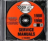 1988 1989 1990 CORVETTE FACTORY REPAIR SHOP & SERVICE MANUAL CD - INCLUDES; 1988 35th Anniversary Edition Hatchback, '88-'89-'90 Convertible, '88, '89, '90 Hatchback & '90 ZR-1 Hatchback