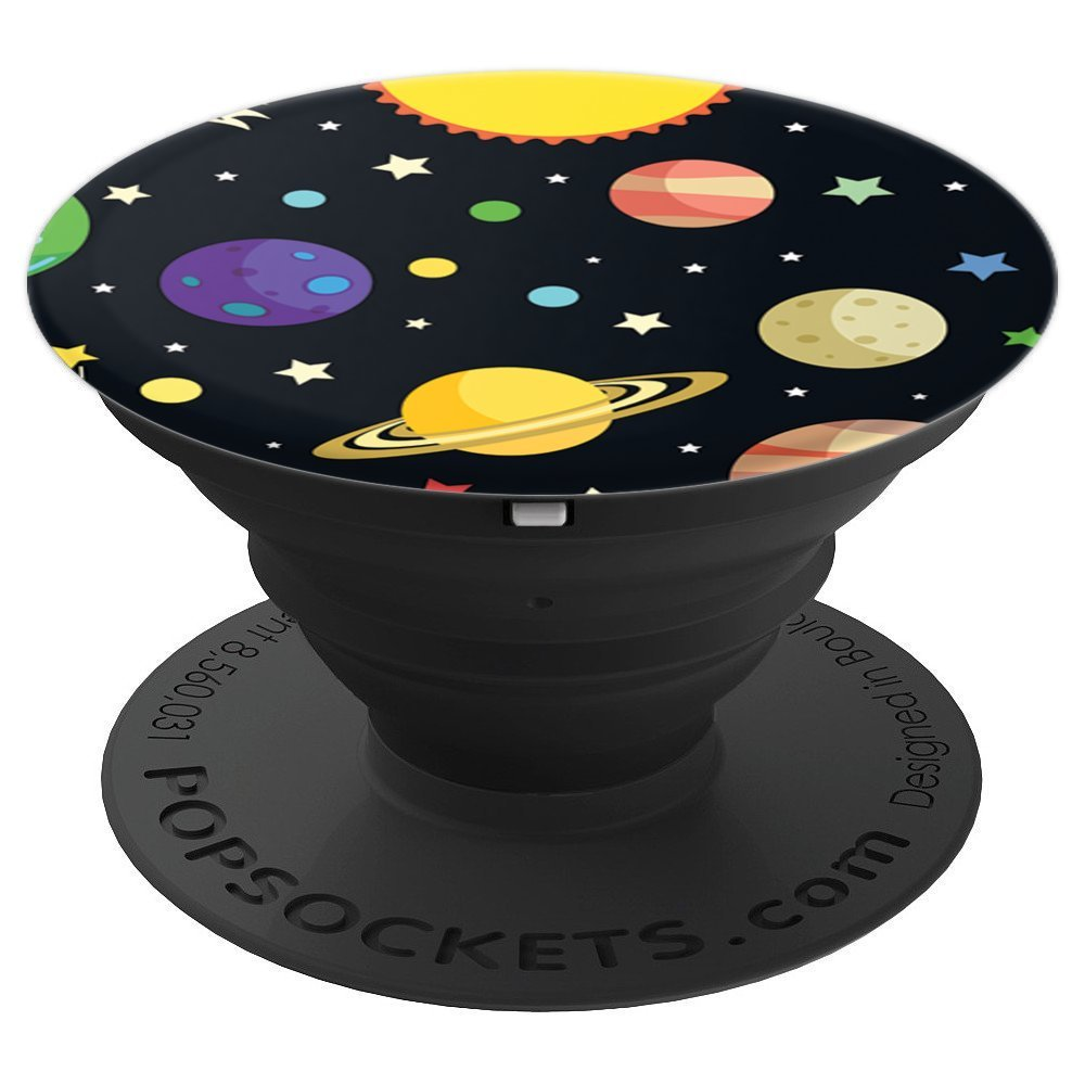 Solar System Galaxy Space Design Saturn Mars Jupiter Venus - PopSockets Grip and Stand for Phones and Tablets