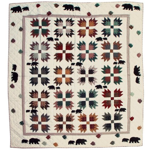 Paw Quilt Bear (Patch Magic Queen Bear's Paw Quilt, 85-Inch by 95-Inch)