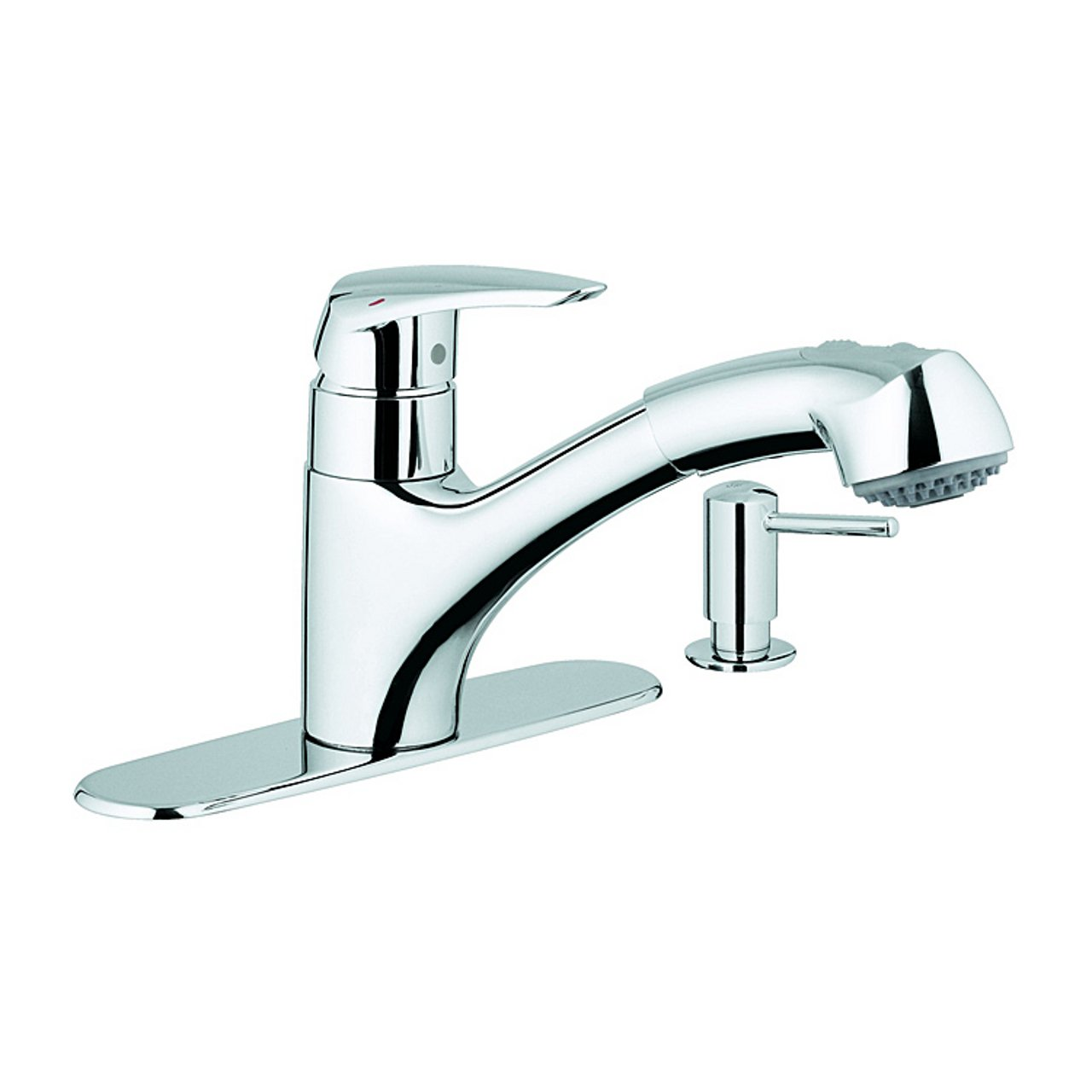 grohe 30127000 kitchen faucet with dual spray pull out spout and