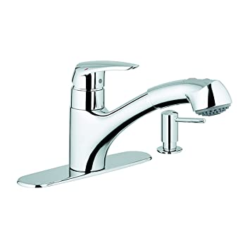 Grohe 30127000 Kitchen Faucet With Dual Spray Pull-Out Spout And