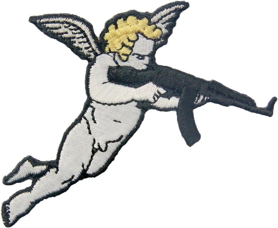 Parche termoadhesivo para la ropa, diseño de Cupido con pistola