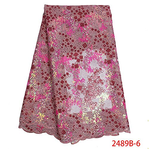Hot Sale Organza Lace Fabric Fabric 2019 French Mesh Lace Fabrics with Sequins Lace Fabric for Party Dress,6 -