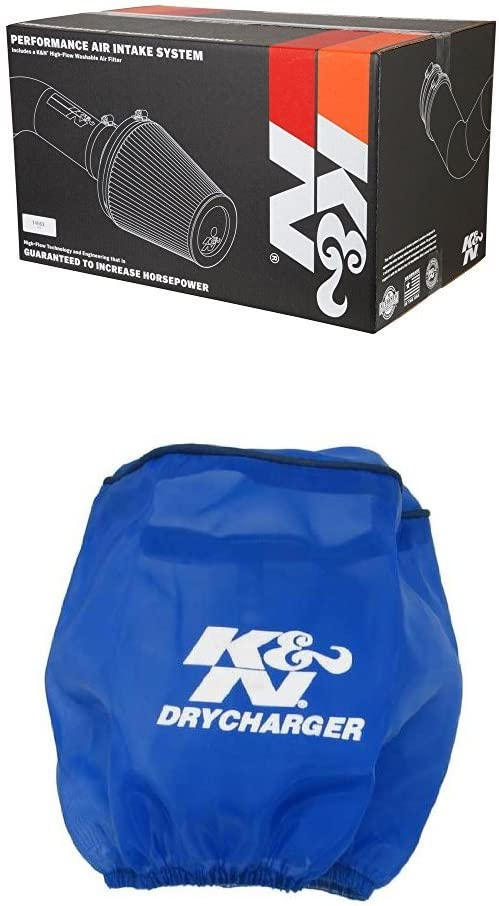 K/&N 69-7078TS Performance Air Intake System with Blue Air Filter Wrap