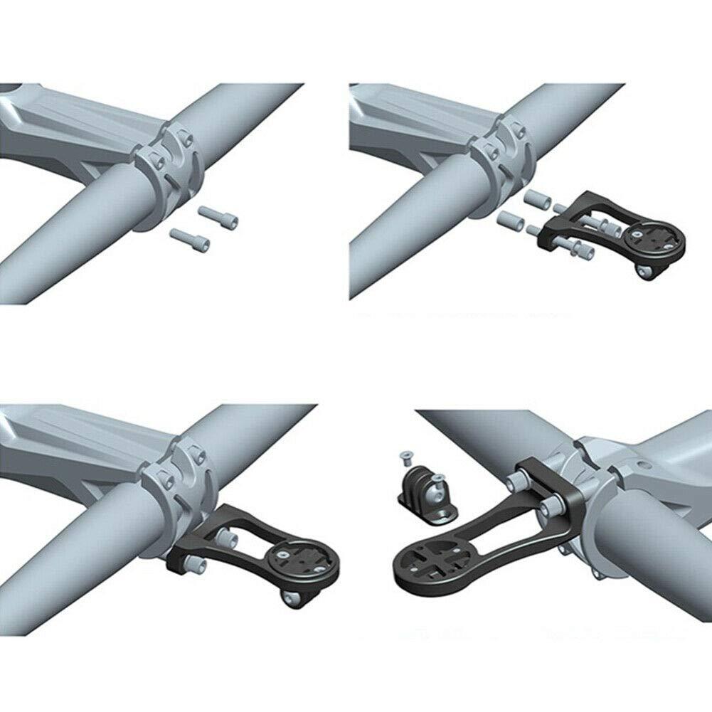 Dgaddcd Soporte Manillar de Computadora de Bici para Sigma ROX 12.0 Sport//ROX GPS 7.0 y 11.0,con Soporte de Linterna Plata