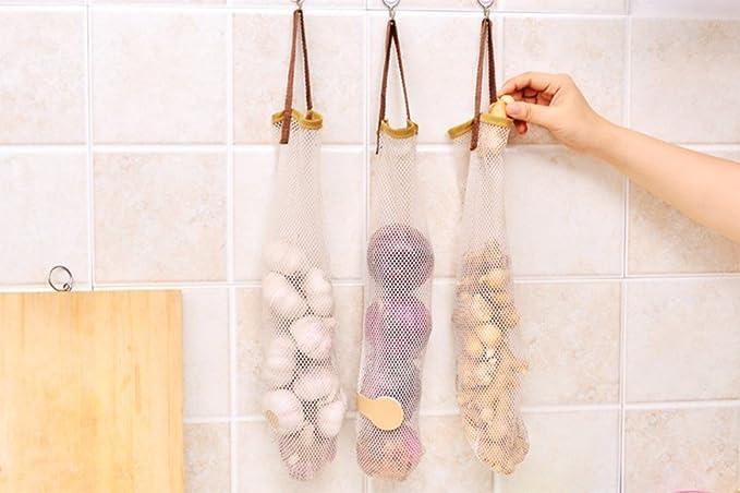/Red Malla para hortalizas cebollas sede suspendida reutilizable 3/x chytaii bolsa de almacenamiento/