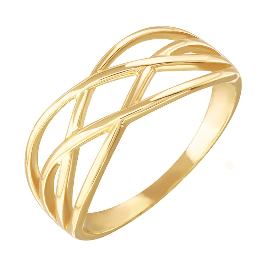 High Polish 14k Yellow Gold Celtic Knot Ring for Women (Size 5.5) by Modern Contemporary Rings