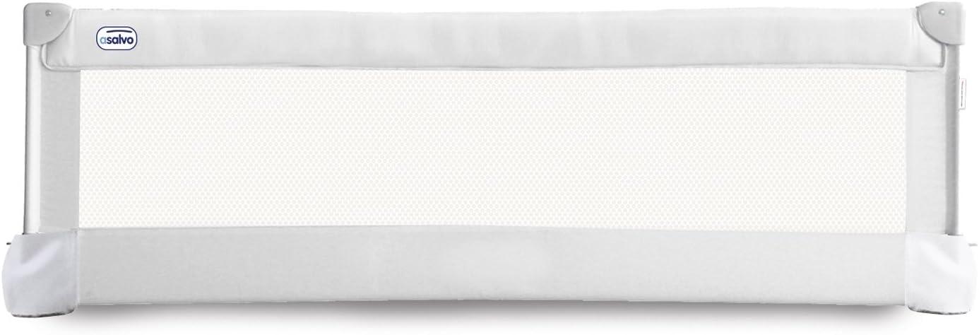 Barrera de cama Asalvo abatible 150 cm blanca: Amazon.es: Bebé