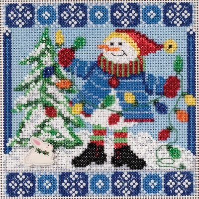 (Mr. Jack Frost Winter Buttons & Beads Counted Cross Stitch K-5.25x5.25 14 Count )