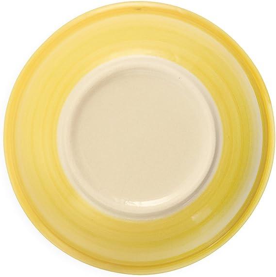 Juego de 6 platos llanos en espiral porcelana Villa DEste Home Tivoli 2193072