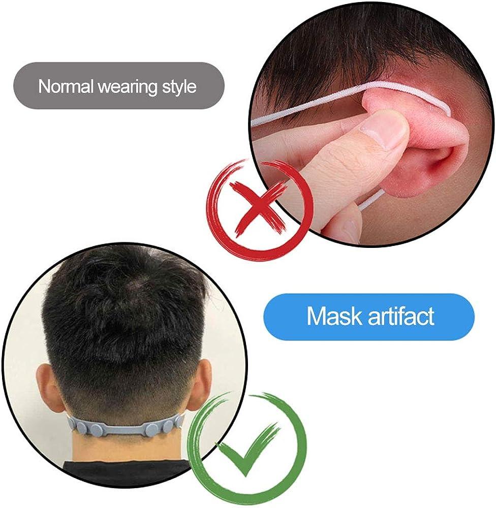 HiMei Face Shield earmuffle Artifact Face Shield ropeTPU Extension Buckle Prevent Ear-Pulling