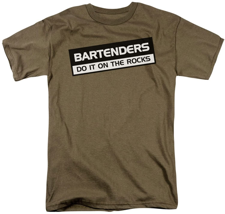 Funny Tees - Mens Bartenders Do It Rocks T-Shirt