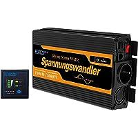 EDECOA Omvormer Zuivere Sinus 1000W 12 V 230 V Auto Omvormer 12V naar 230V Spanningsomvormer 2000W Piekvermogen Inverter…