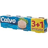 CALVO凯芙油浸金枪鱼罐头3+1分享装80g*4(西班牙进口)