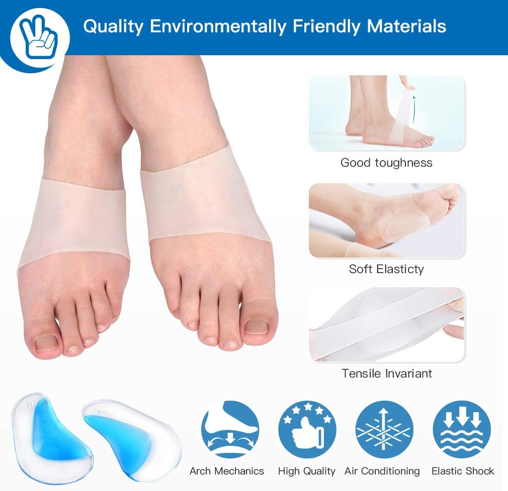 Plantar Fasciitis and Calcaneal Spines GC-US Plantar Fasciitis Foot Arch Support Set for Flat Foot 6 Pcs