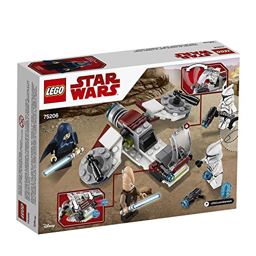 LEGO-Star-Wars-Jedi-and-Clone-Troopers-Battle-Pack-75206-Building-Kit-102-Piece-Stacking-Toys