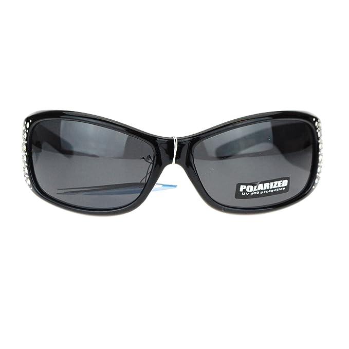 Amazon.com: Anteojos de sol de diseño rectangular con estrás ...