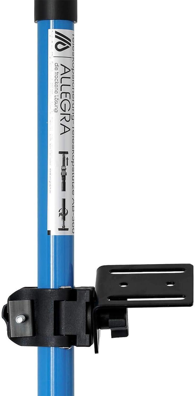 60-115cm, Blau ALLEGRA Rotationslaser Baulaser Halterung f/ür Laser Baustativ Teleskopstange AB 365