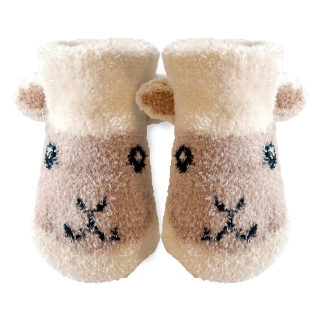 Cream Colour Patrick Francis Ireland Kids Woolly Sheep Face Booties