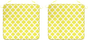 FBTS Prime Outdoor Chair Pads (Set of 2) 18x18 Inch Patio Seat Pads Yellow Square Chair Cushions for Outdoor Patio Furniture