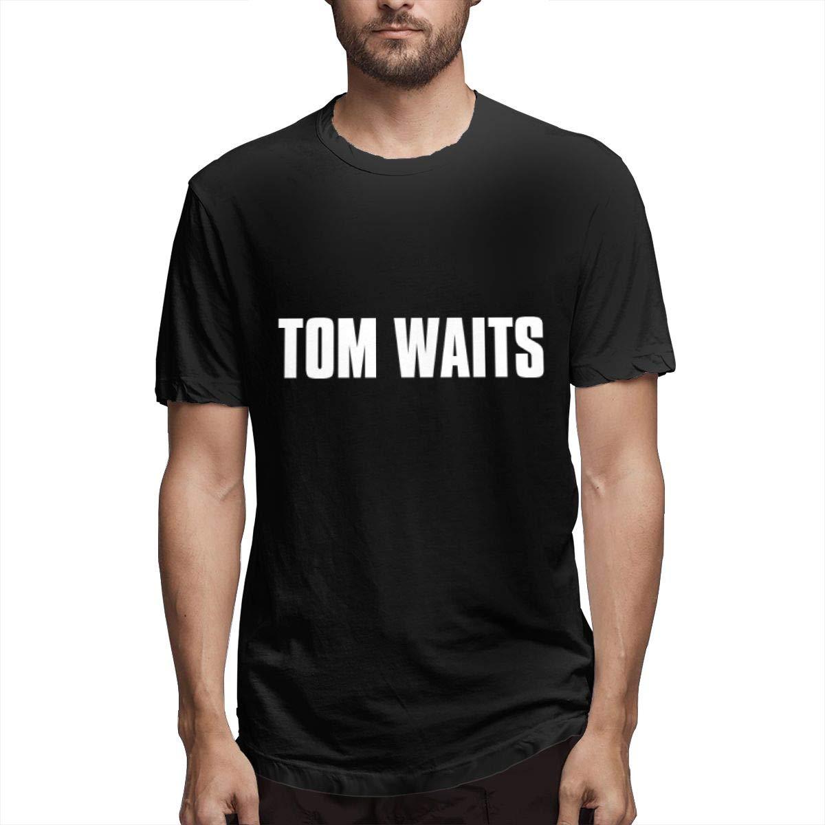 Lihehen Tom Waits Logo Simple Casual Round Neck Shirts
