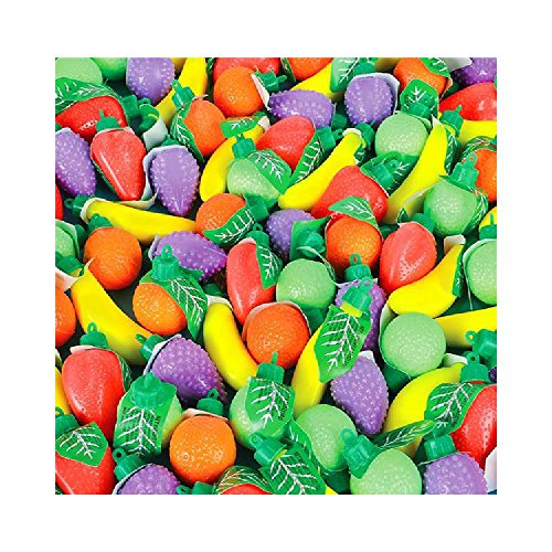 Candy Filled Plastic Fruit Shapes (With Sticky Notes) by Bargain World
