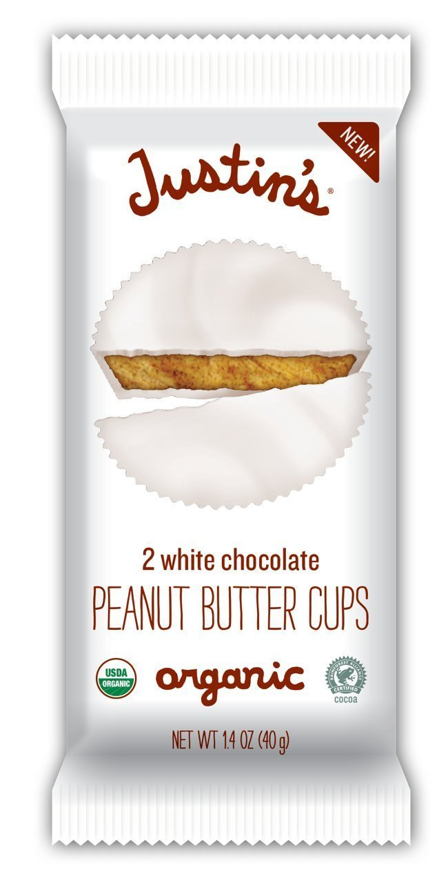 Justin's Nut Butter White Chocolate Peanut Butter Cups, 1.4 Ounce (Pack of 12)