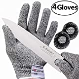 Cut Resistant Gloves By FORTEM - Level 5 Protection | Food Grade | EN388 Certified | Safety Cutting Gloves For Hand Protection in Kitchen (Large 2 Pair)