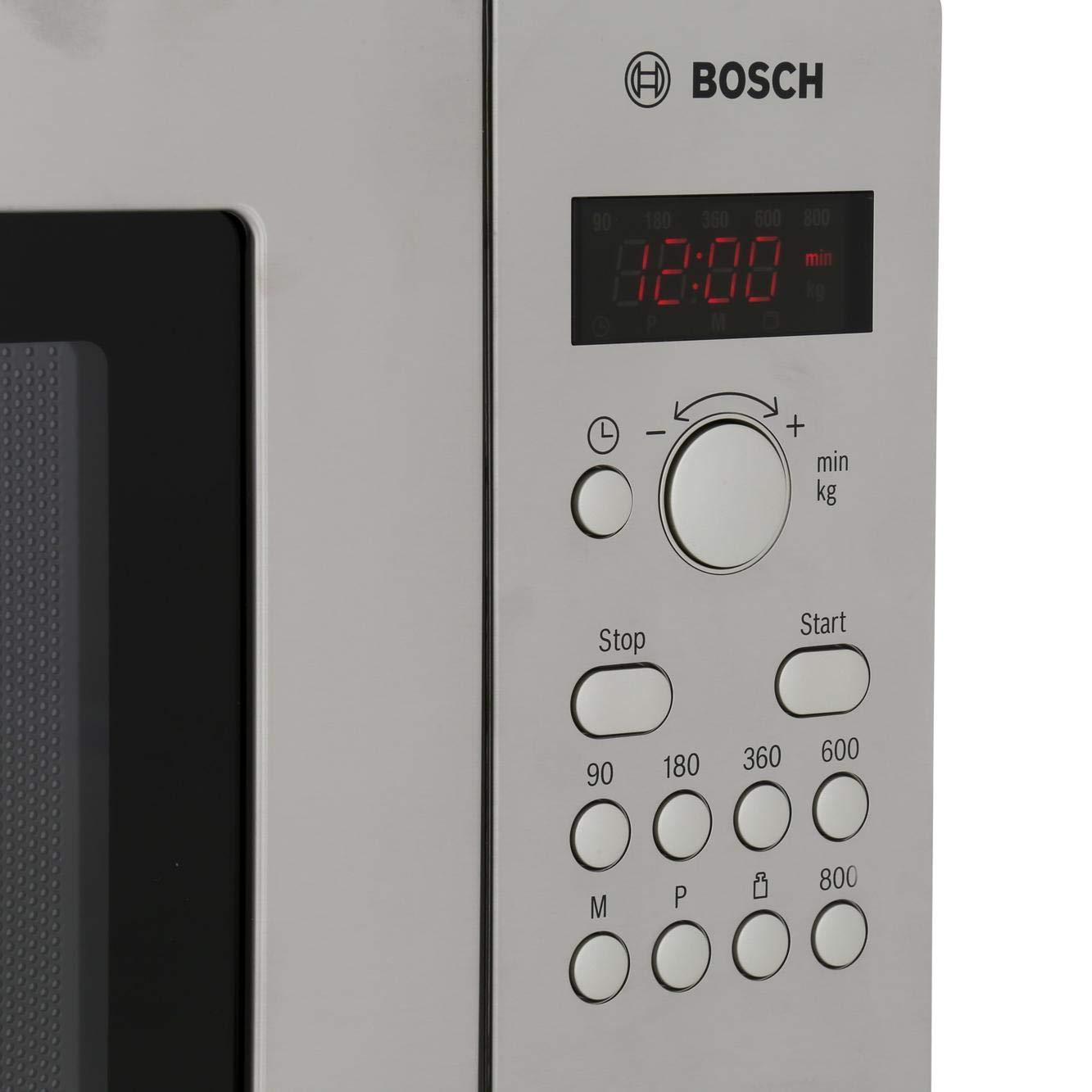 Bosch HMT75M451B, Acero inoxidable, 462 x 320 x 280 mm, LED - Microondas (importado de Inglaterra)