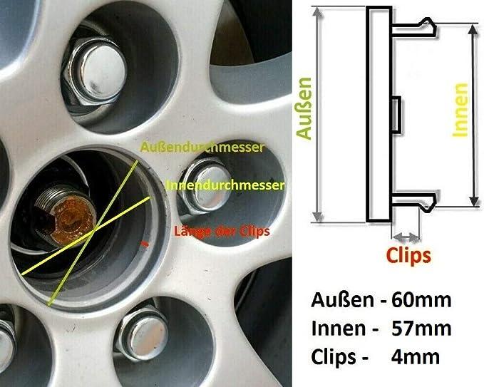 AutolineTM 4 St/ück nabendeckel 54mm 50mm AudiLogo felgendeckel radnabenkappen felgenkappen