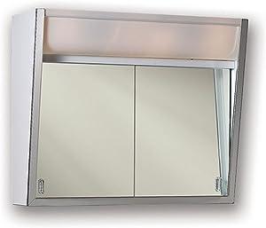 Jensen 327LPX Lighted 2-Sliding Doors Medicine Cabinet, 28
