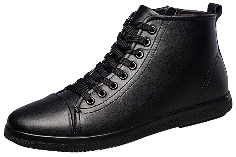 Salabobo FJQY-8206 New Mens Leather Leisure Cozy Charming Comfy Smart High Top Snow Boots
