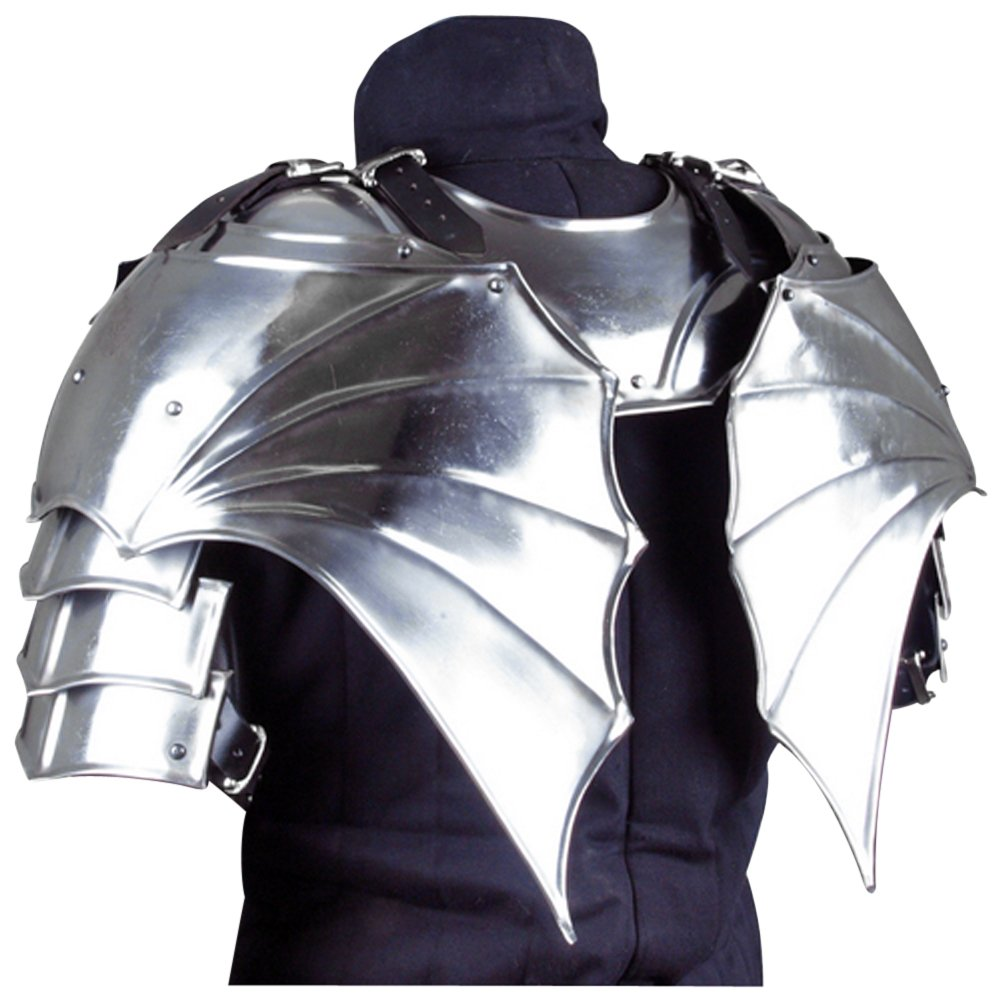 Armor Venue - Gothic Gorget with Pauldrons - Metallic - One Size Armour by Epic Armoury (Image #3)