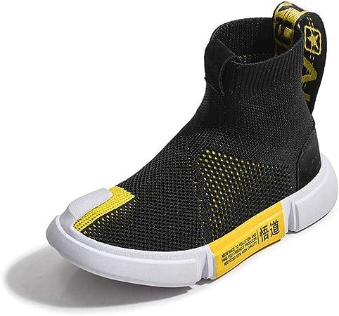 Zapatillas De Running Para Niñas, Zapatillas De Deporte De Calcetines Zapatillas De Gimnasia De Punto Cómodo Zapatos De Zapatillas De Calcetín Zapatillas De Deporte Casuales Para Niños,Negro,33: Amazon.es: Hogar