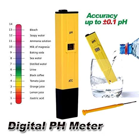 igemy comprobador de medidor Digital de PH bolsillo portátil piscina agua acuario hidropónico vino nuevo amarillo