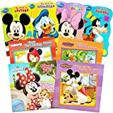 Disney Mickey Minnie Mouse Board Books Set for Kids Toddlers Bundle -- Pack of 8 Disney Books (6 Board Books, 2 Soft Cover Books)