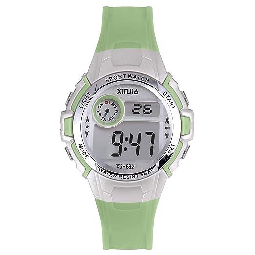 Reloj Digital para niños y niñas, con LED de 50 m (5 ATM)