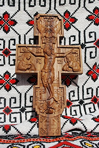 - Cross Catholic Crucifix Durable unique christian gift Wood Carved religious wall decor FREE ENGRAVING FREE SHIPPING