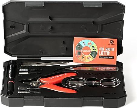 Caja de herramientas básica COIL MASTER Mini Kit V2 para cigarrillos electrónicos – Pinzas cerámica, tijeras, alicates, destornillador para hacer resistencias vaping - ¡Utensilios para el vapeo!: Amazon.es: Bricolaje y herramientas