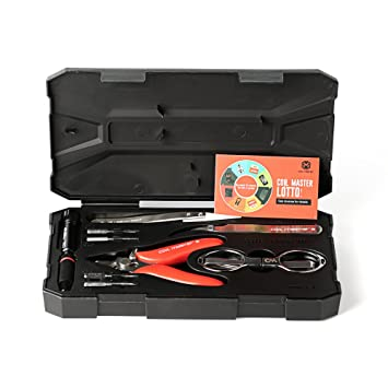 Caja de herramientas básica COIL MASTER Mini Kit V2 para cigarrillos electrónicos – Pinzas cerámica, tijeras, alicates, destornillador para hacer ...
