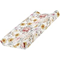 Baby Floral Diaper Changing Pad Cover Cradle Mattress Sheets, Infant Stretchy Fabric Changing Table Cover Changing Mat…