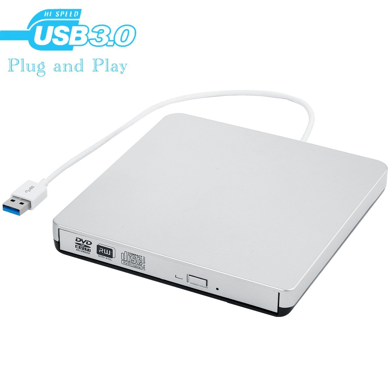 External CD Drive,USB 3.0 Portable CD DVD Burner Writer Drive Player, High Speed Data Transfer for Laptop/Desktop / Macbook/Mac OS / Windows10 /8/7 / XP /