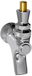 Draft Beer Faucet with Brass Lever- Chrome