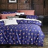 Svetanya - Fashion Zodiac Purple Pattern - Duvet Cover Bedding Sets (Duvet Cover+ Bedsheet+ Pillowcases) - 800TC Egyptian Cotton Fabric King