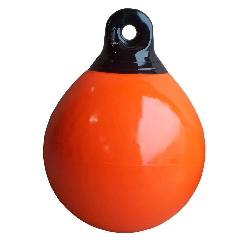 Dock Edge Inflatable Mooring Buoy, 10'', Orange