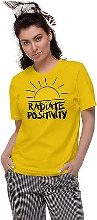 ART GALLERY MISR Yellow Round Neck T-Shirt For Women