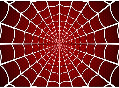 Super Hero Spiderman Themed Birthday Backdrop Boy 7x5ft White Spider Web Red Background For Cosplay Party Vinyl Photography Backdrop For Kids Picture Photoshoot Amazon Sg Electronics