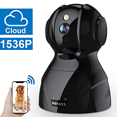 Wireless 1536P Security Surveillance Camera,HD Home Indoor IP Camera With Two-Way Audio PTZ For Baby Elder Pet Monitor